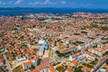 Zadar croatia jul aerial view of city with residential area on jul in zadar croatia Royalty Free Stock Photos
