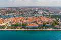 Zadar croatia jul aerial view of the old town with harbor on jul in zadar croatia Stock Photo