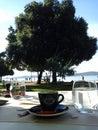 Zadar, Croatia, Riva, Bon apettit cafe, restaurant Royalty Free Stock Photo
