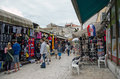 Zadar flea market croatia may people in traditional in croatia Royalty Free Stock Image