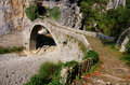 Zagoria stone bridge in Pindus Mountains Royalty Free Stock Photography