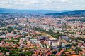 Zagreb aerial view Royalty Free Stock Photo