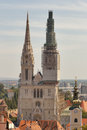 Zagreb Cathedral towers Royalty Free Stock Photography