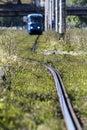 Zagreb city tramway in croatia Royalty Free Stock Photo