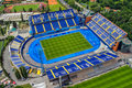 Zagreb croatia may maksimir stadium is official field for dinamo football club on may zagreb croatia helicopter aerial view Stock Images
