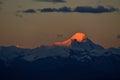 Zagreb to Tibet the morning sun Snow mountain Royalty Free Stock Photo