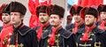 Zagreb Tourist Attraction / Cravat Regiment / Aligning Royalty Free Stock Photo