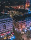 Zagreb urban city view at night Royalty Free Stock Photo
