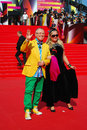 Zaitsev at moscow film festival fashion desighners slava viacheslav and tatiana mikhalkova xxxv international red carpet closing Royalty Free Stock Image
