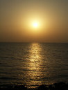 Zakat sun way of the sea formed by the setting sun Royalty Free Stock Photo