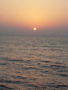 Zakat sunset on the red sea Stock Images