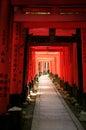 Zakazuje inari Japan Kyoto torii Fotografia Royalty Free