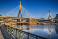 Zakim bridge panoramic shots of the in boston massachusetts usa on a sunny summer day Stock Photo