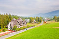 Zakopane resort town in tatra mountains poland Royalty Free Stock Photo