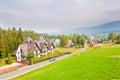 Zakopane resort town in tatra mountains poland Royalty Free Stock Photo