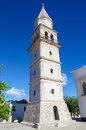 Zakynthos church of agia mavra with its venetian belfry in the village of maherado ionian islands greece Stock Images