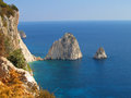 Zakynthos coast a in greece Stock Photography
