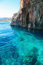 Zakynthos famous blue caves in ionian islands greece Stock Image