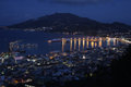 Zakynthos port night view from city from zakinthos island Stock Images