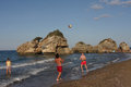 Zakynthos porto zoro beach people realxing on a greek called from island Royalty Free Stock Photo