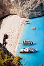 Zakynthos shipwreck bay main island tourist attraction ruined attract many viewers and tourists zante greece Stock Photo