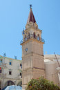Zakynthos town with its towers and temples Royalty Free Stock Images
