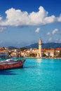 Zakynthos town in the morning Royalty Free Stock Photo