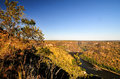 Zambezi river gorge landscape between zambia and zimbabwe from the zambian side Royalty Free Stock Image