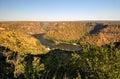 Zambezi river gorge landscape between zambia and zimbabwe from the zambian side Stock Photo