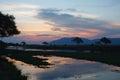 Zambezi sunset beautiful over the river Royalty Free Stock Photos