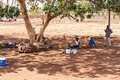 ZAMBIA - OCTOBER 14 2013: Local people go about day to day life Stock Image