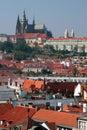 Zamek kapitału miasta Prague republika czeska Praha Obrazy Stock