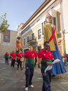 Zamora spain august giants and big heads gigantes y cabezudos during the celebration of the cultural summer exhibition Royalty Free Stock Photo