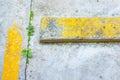 Zamyka w górę strzału cementowa podłoga Fotografia Stock