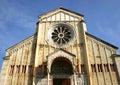 Zan Zeno romanic cathedral in Verona, Italy Stock Photos