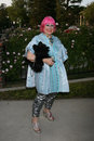 Zandra rhodes britweek british counsul general s residence los angeles ca april Stock Image