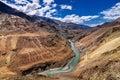 Zanskar river, Ladakh, Jammu and Kashmir, India Royalty Free Stock Photo