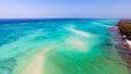 Zanzibar beach aerial view Royalty Free Stock Photo
