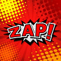 Zap comic speech bubble cartoon Royalty Free Stock Photography