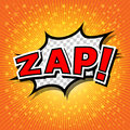 Zap comic speech bubble cartoon Royalty Free Stock Photos