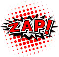 Zap comic speech bubble cartoon Royalty Free Stock Image