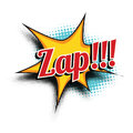 Zap comic word Royalty Free Stock Photo