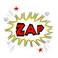 Zap text Royalty Free Stock Photography