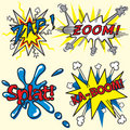 Zap, Zoom, Ka-Boom, Splat! Royalty Free Stock Image