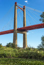 Zarate brazo largo bridge entre rios argentina the bridges are two cable stayed road and railway bridges in crossing the parana Stock Image
