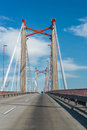 Zarate brazo largo bridge entre rios argentina the bridges are two cable stayed road and railway bridges in crossing the parana Royalty Free Stock Image