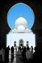 Zayed mosque回教族长在阿布扎比 库存照片