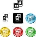 Zdjęcia ikon symbol mediów Obrazy Stock