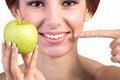 Zdrowi biali uśmiechów zęby Obraz Stock