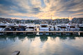 Zea marina in piraeus athens boats Royalty Free Stock Image